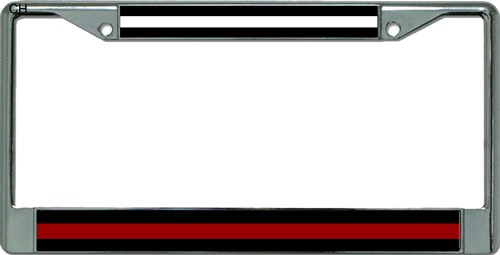EMS / Firefighter Chrome License Plate Frame EMS / Firefighter ...