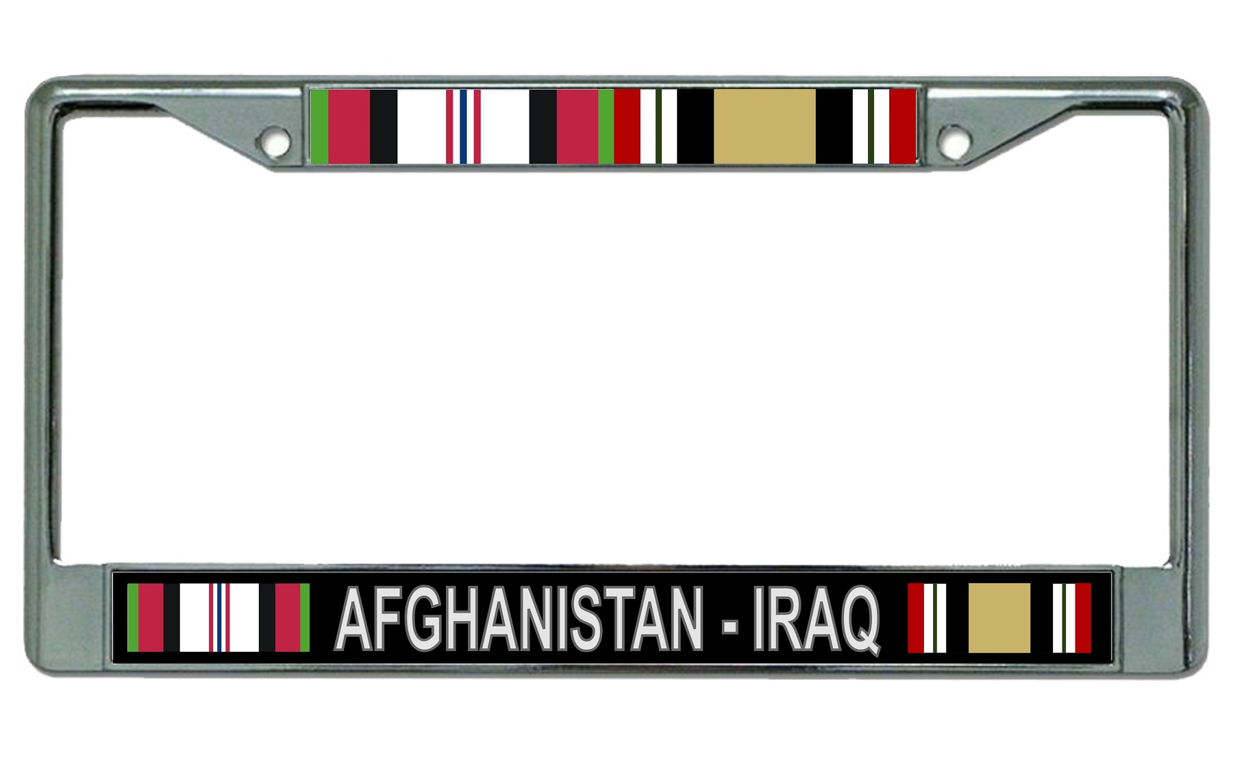 Afghanistan - Iraq Veteran Chrome License Plate Frame Afghanistan ...