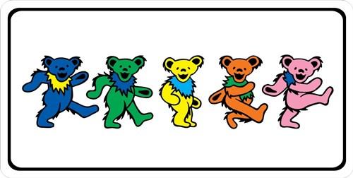 Grateful Dead Bears Photo License Plate