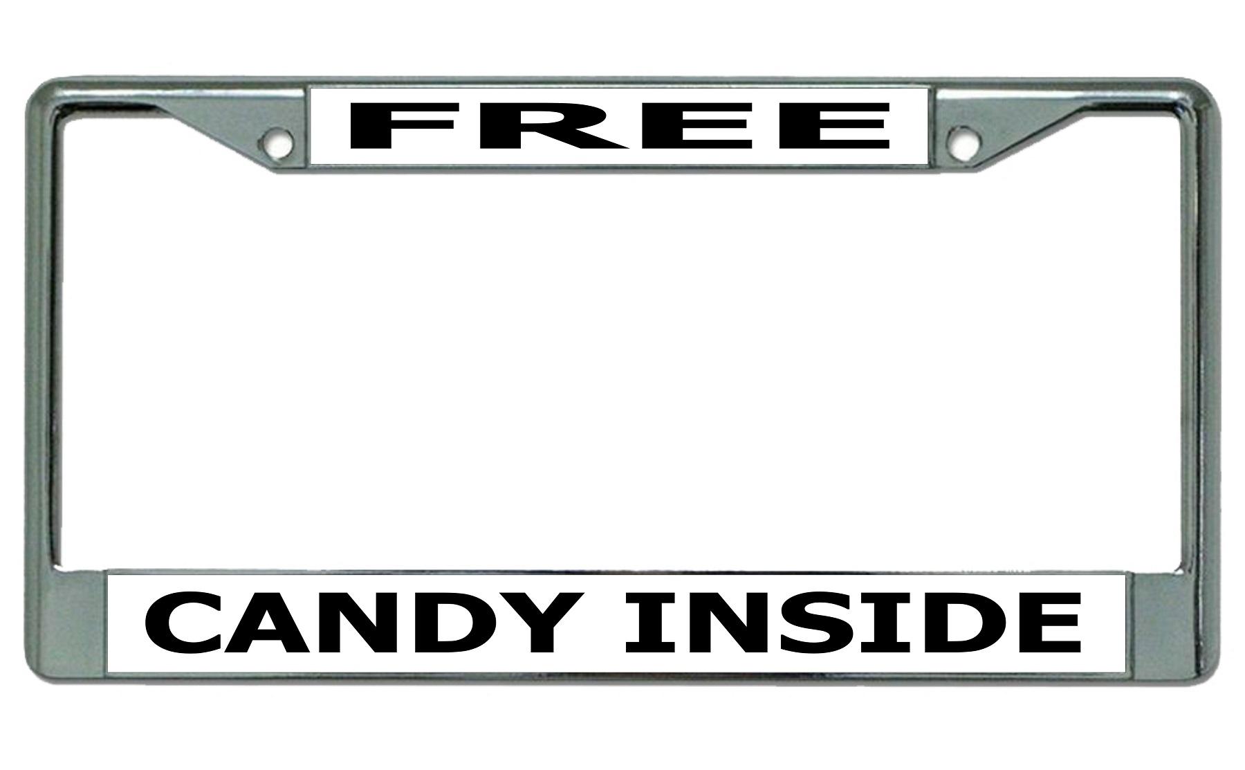 Free CANDY Inside Chrome License Plate Frame