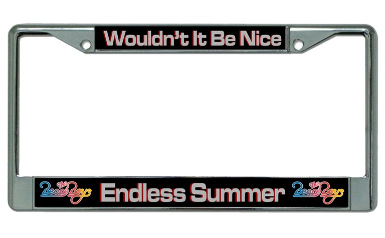Beach Boys Endless Summer Chrome License Plate Frame Beach Boys ...