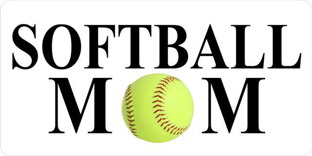SOFTBALL Mom License Plate