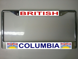 British Columbia License Plate Frame