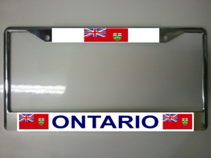 Ontario Canada License Plate Frame
