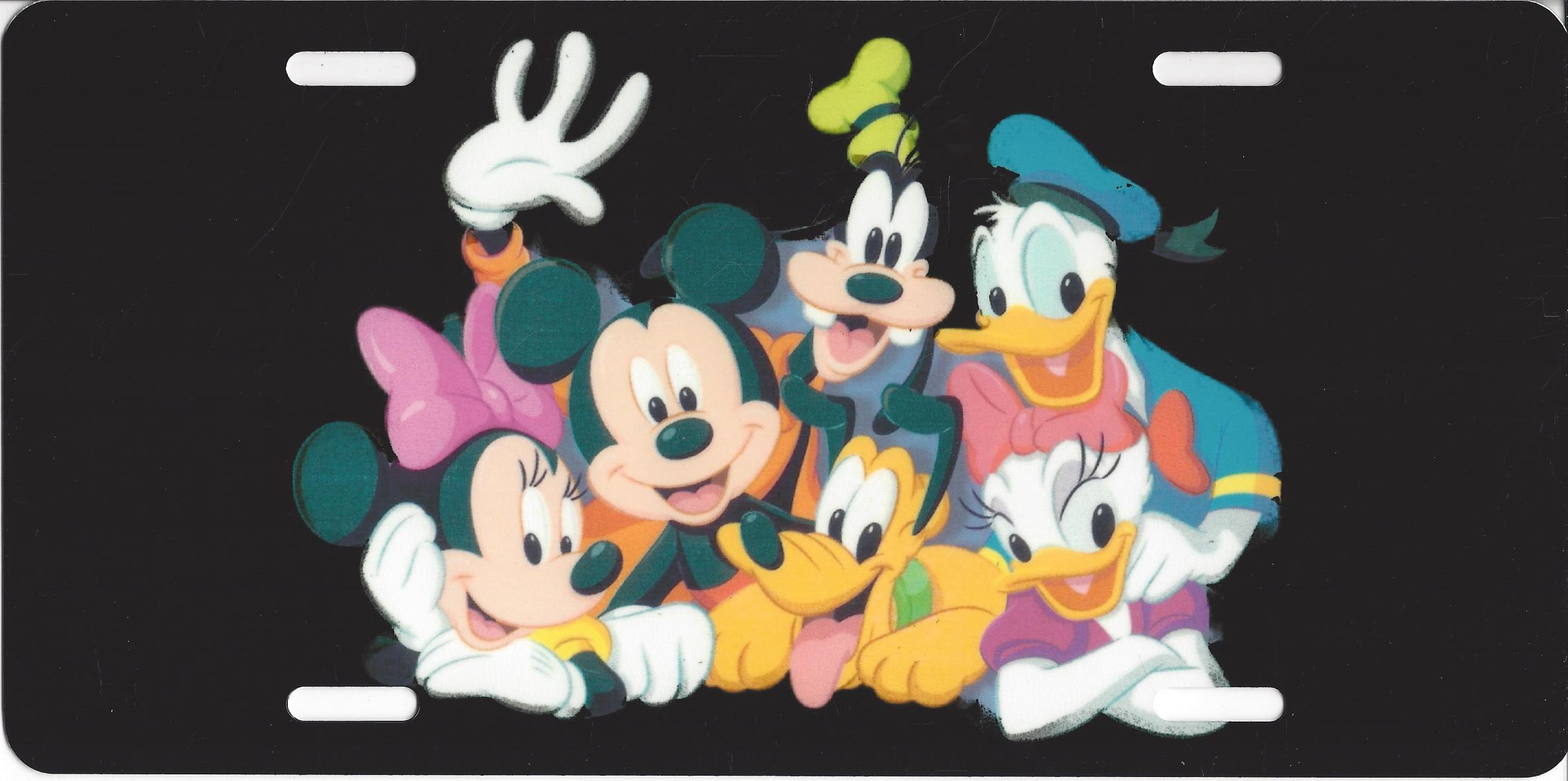 DISNEY Characters Photo License Plate