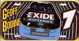 Geoff Bodine #7 License Plate
