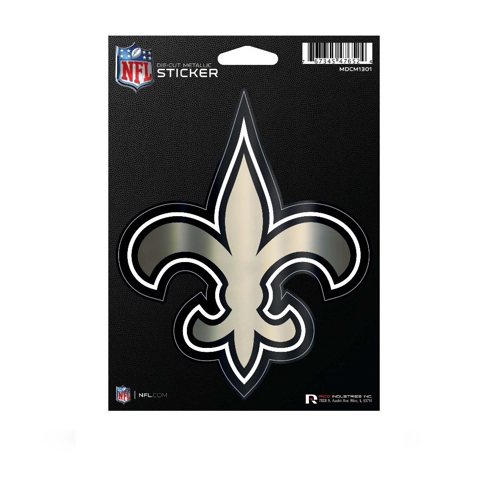 New Orleans SAINTS Die Cut Metallic Sticker