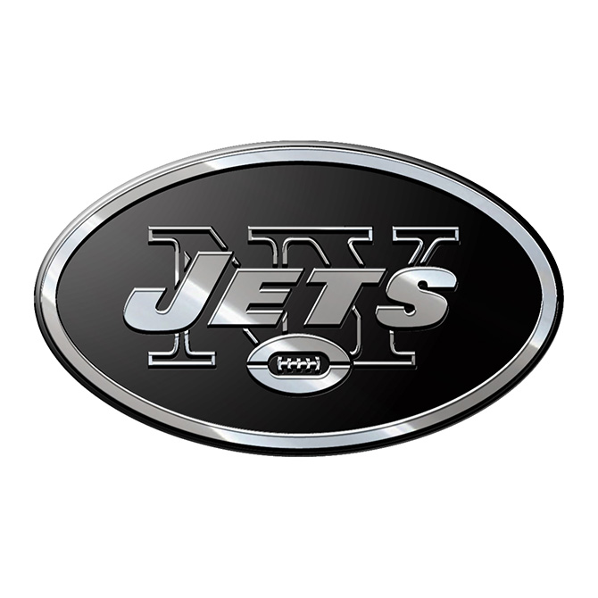 NEW York Jets NFL Metal Auto Emblem