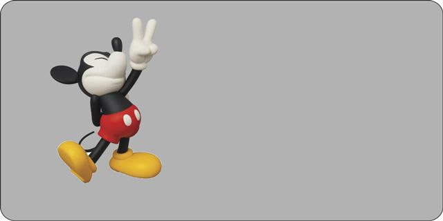 Mickey Mouse-Peace SIGN License Plate