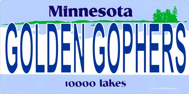 License Plates Online MN Golden Gophers Photo License Plate at Sears.com