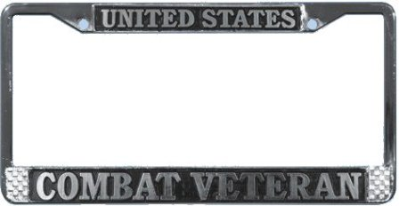 mplfcv us combat veteran license plate frame mplfcv larger image