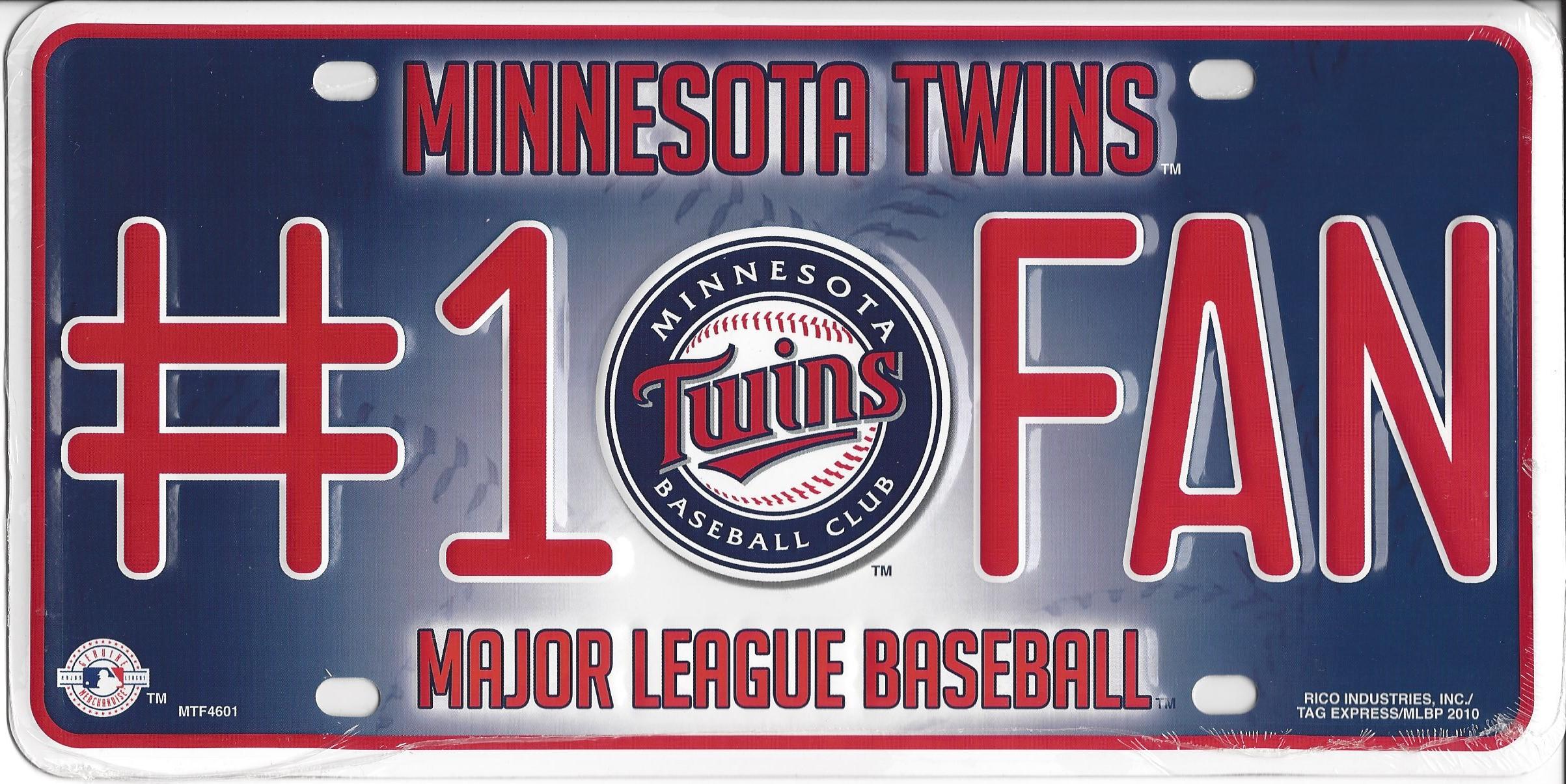 Minnesota Twins #1 FAN Metal License Plate