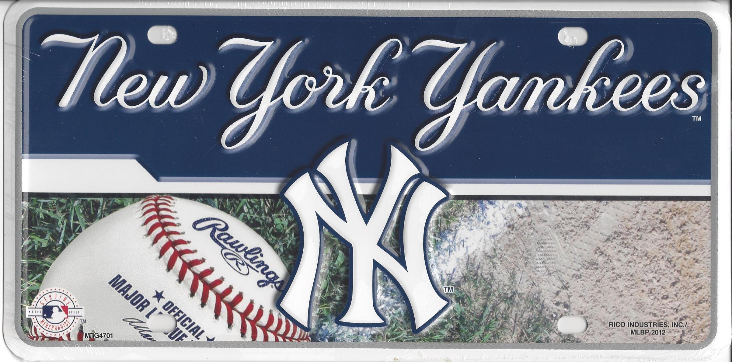 NEW York Yankees Metal License Plate