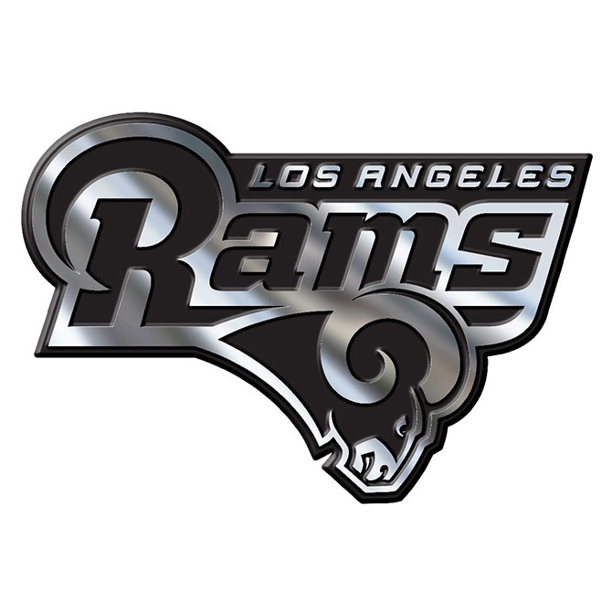 Los Angeles Rams NFL Chrome Auto Emblem