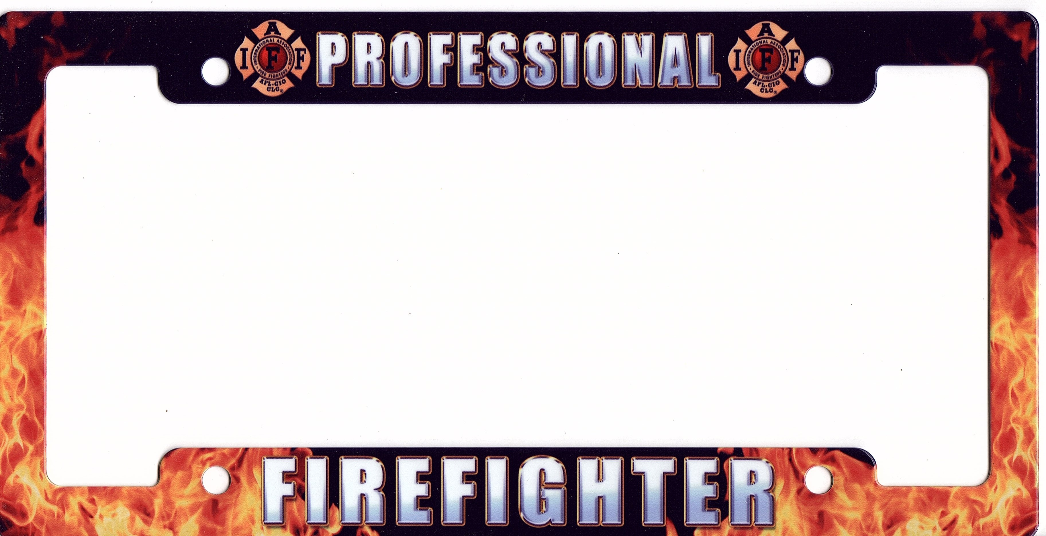 Professional Firefighter Metal License Plate Frame Professional ...