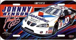 Johnny Benson #10 NASCAR Plastic License Plate