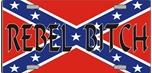 """Rebel Bitch"" Confederate License Plate"