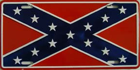 Dixie Rebel Flag License Plate at Sears.com