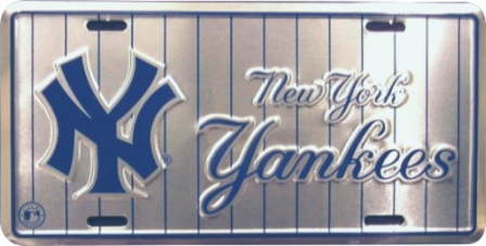 Dixie New York Yankees (Silver Pinstripes) License Plate at Sears.com