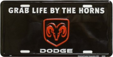 Dixie Dodge Grab Life by the Horns License Plate at Sears.com