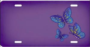 Smokey Mountain Butterflies on Purple Airbrush License Plate at Sears.com