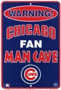 Chicago Cubs Man Cave Metal Parking Sign