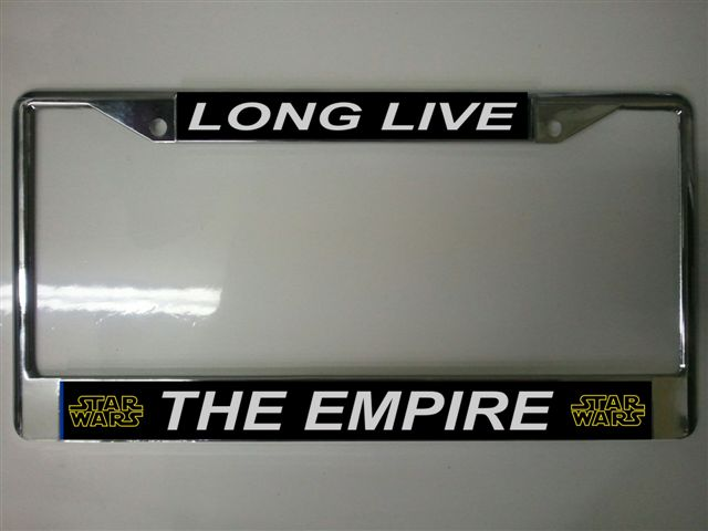 lpo421 long live the empire star wars license plate frame lpo421 larger image