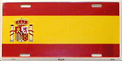 Dixie Spain Flag License Plate at Sears.com