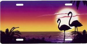 Flamingo Beach License Plate