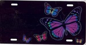 Advanced Graphics Butterflies on Black Airbrush License Plate at Sears.com