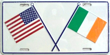 Dixie US & Irish Crossed Flags License Plate at Sears.com