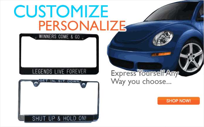 Auto License Plates and Frames
