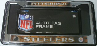 Rico Frames Pittsburgh Steelers Chrome License Plate Frame at Sears.com