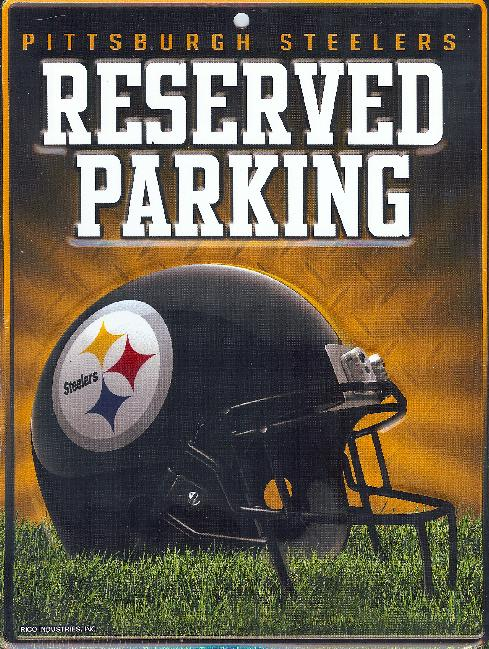 Pittsburgh STEELERS Metal Reserved Parking Sign